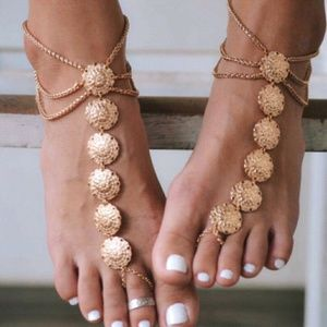 Jewelry - ADD ON FREE!!! Gold Coin Harem Anklet Gypsy Boho